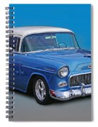 Feeling The Blues Spiral Notebook