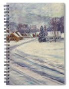 Felchville Village In The Snow Spiral Notebook