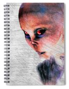 Female Alien Portrait Spiral Notebook