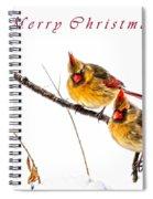 Female Cardinals Card Spiral Notebook