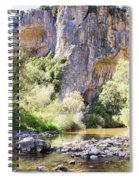 Female Climber, On A Beautiful Route Spiral Notebook