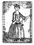 Female Continental Soldier Spiral Notebook