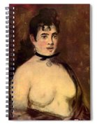 Female Nude Spiral Notebook