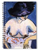Female Nude With Hat Spiral Notebook