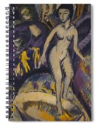 Female Nude With Hot Tub Spiral Notebook