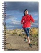 Female Runner In Colorado Spiral Notebook