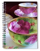 Feminine High Society Ladies Tea Party Spiral Notebook