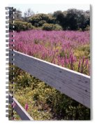Fence And Purple Wild Flowers Spiral Notebook