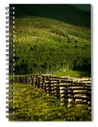 Fence And Shadow Spiral Notebook