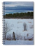 Fence And Snowy Field Spiral Notebook
