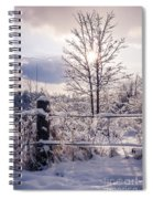 Fence And Tree Frozen In Ice Spiral Notebook