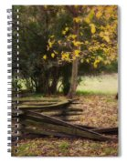 Fence And Tree In Autumn Spiral Notebook