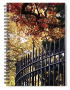 Fence At Woodlawn Cemetery Spiral Notebook