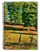 Fence - Featured In Comfortable Art Group Spiral Notebook