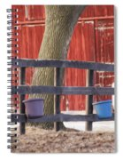 Fence Full Of Buckets Spiral Notebook