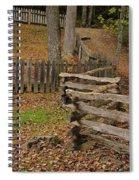 Fence In Autumn Spiral Notebook