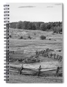 Fence Line Monochrome Spiral Notebook