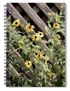 Fence Lined Wildflowers Spiral Notebook