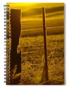 Fence Post In The Morning Light Spiral Notebook