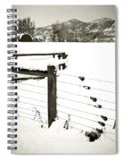 Fence Pulls In Winter Spiral Notebook