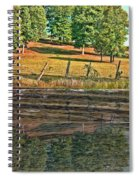 Fence Reflection Spiral Notebook