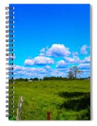 Fence Row And Clouds Spiral Notebook