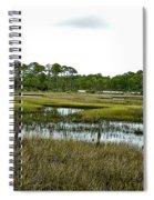 Fence Thru The Marsh Spiral Notebook
