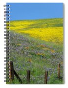 Fenced In Flowers Spiral Notebook
