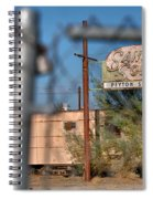 Fenced In  Abandoned 1950's Motel Trailer Spiral Notebook