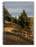 Fenced In Warm Autumn Light Spiral Notebook