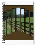 Fenced Pasture Spiral Notebook