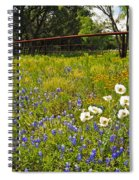 Fenceline Wildflowers Spiral Notebook