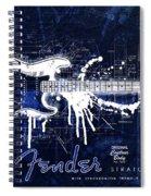 Fender Blueprint Washout Spiral Notebook