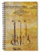 Fender Guitar Patent On Canvas Spiral Notebook