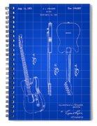 Fender Guitar Patent 1951 - Blue Spiral Notebook