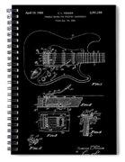 Fender Guitar Tremolo Patent Art 1956 Spiral Notebook