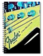 Fender Head In Watercolor Photo Spiral Notebook