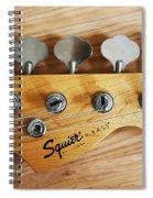 Fender Squier Bass Spiral Notebook