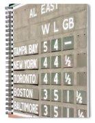 Fenway Park Al East Scoreboard Standings Spiral Notebook
