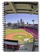Fenway Park And Boston Skyline Spiral Notebook