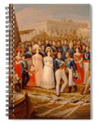 Ferdinand Vii Disembarking In The Port Of Santa Maria, 19th Century Oil On Canvas Spiral Notebook