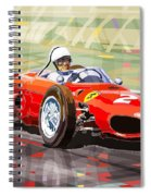 Ferrari 156 Dino British Gp1962 Phil Hill Spiral Notebook