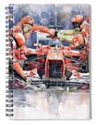 2012 Ferrari F 2012 Fernando Alonso Pit Stop Spiral Notebook
