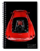 Ferrari F430 Engine Spiral Notebook