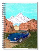 1969 Ferrari 365 G T C In The Mountains 1969 365 G T C Spiral Notebook
