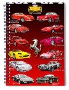 Ferrari Sports Car Poster  Spiral Notebook