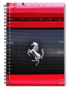 Ferrari - Rear Grill And Stallion Badge Spiral Notebook