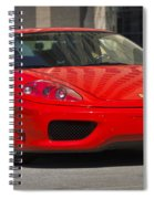 Ferrari Red Spiral Notebook