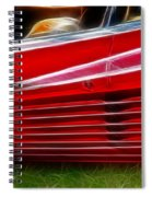Ferrari Testarossa Red Spiral Notebook