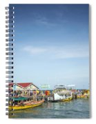 Ferries At Koh Rong Island Pier In Cambodiaferries At Koh Rong I Spiral Notebook